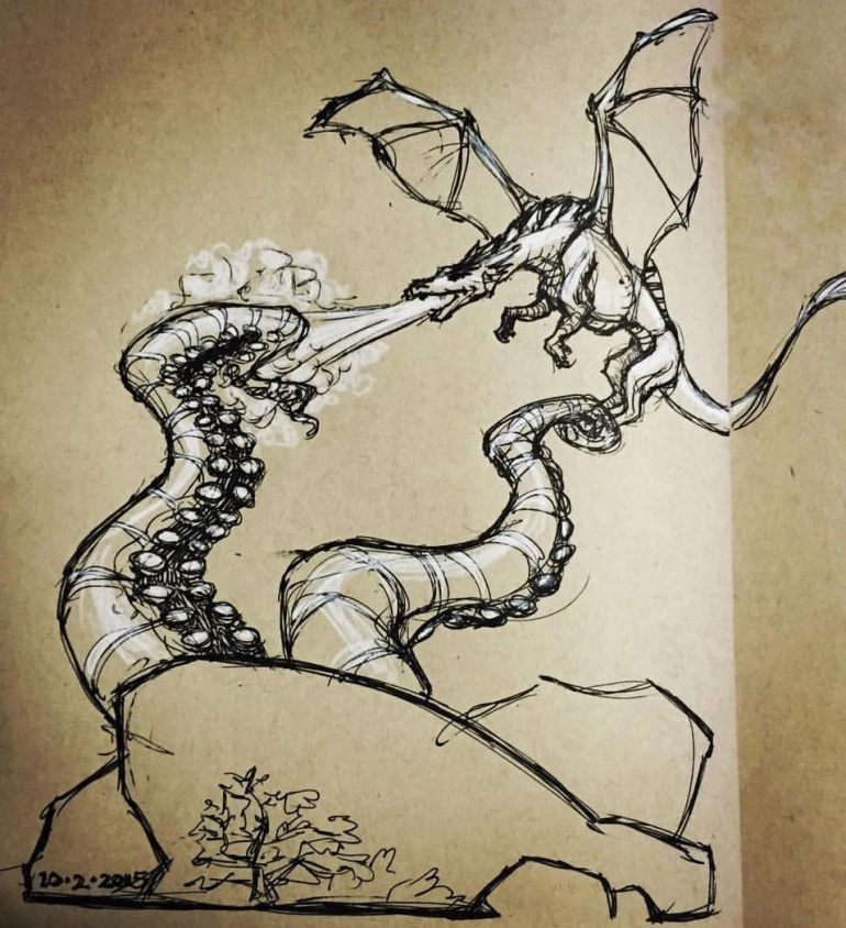 dragon tentackle sketch1