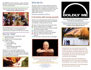 Boldly Me P1 Brochure Revised 7-30-2013