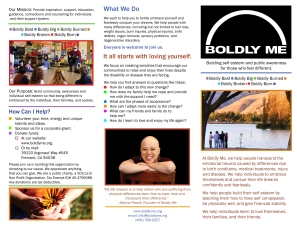 Boldly Me P1 Brochure Revised 7-30-2013